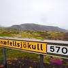 The road to Snæfellsjökull Glacier