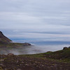 Fog lifting giving us great views from our campsite along the F570 road to the Snæfellsjökull Glacier
