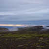Midnight sun from our campsite along the F570 road to the Snæfellsjökull Glacier