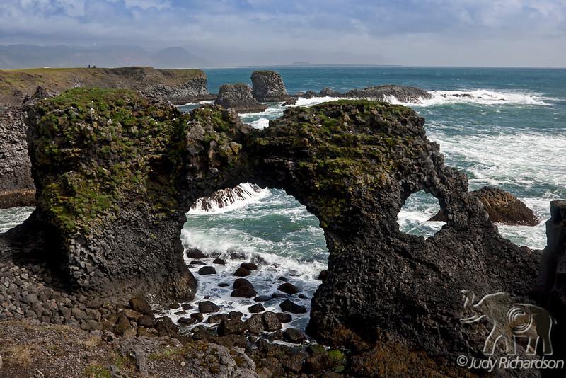 Rock arch Gatklettur in Arnarstapi, Snæfellsnes peninsula