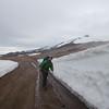 The F570 cutting through thick snow near Snæfellsjökull Glacier