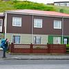 Hitchhiking in the town of Ólafsvík on the north coast of the Snæfellsnes Peninsula