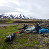Another snack break with Snæfellsjökull in view