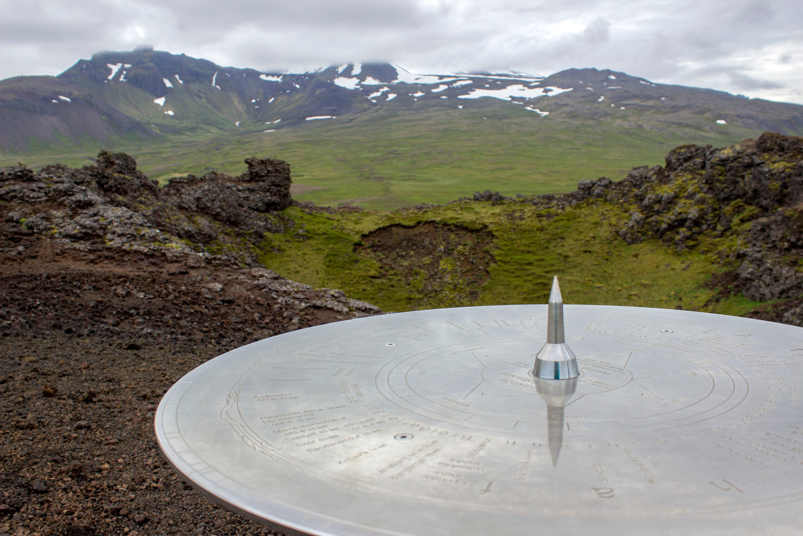 Saxholl Sundial - Snæfellsnes Peninsula Iceland Day Trip Travel Guide