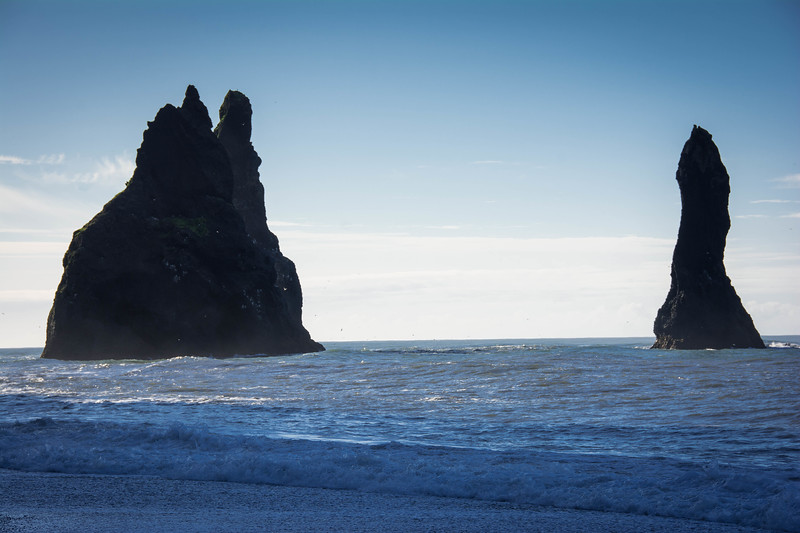 reynisdrangar basalt sea stacks