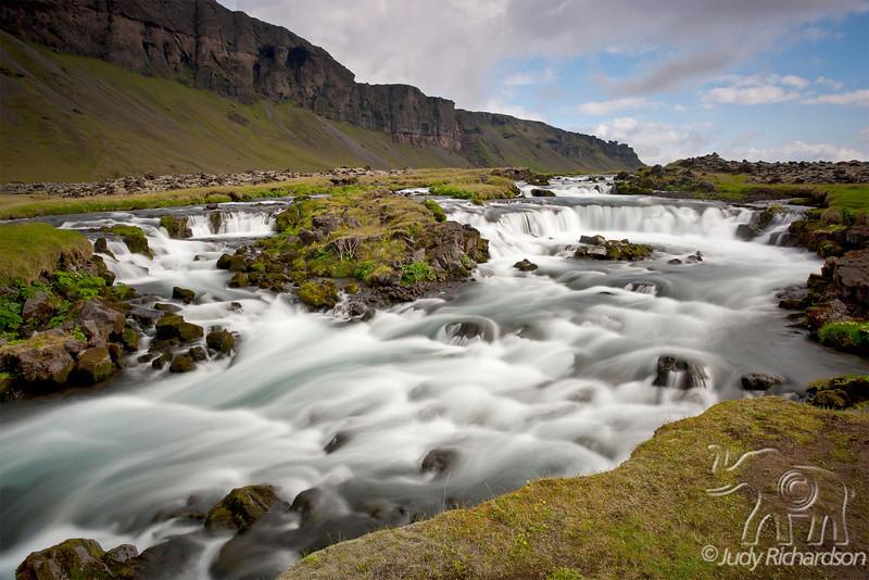 Fossálar River with soft look