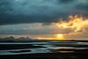Sunset along the south coast of Iceland.
