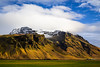 Mountain landscape of southern, Iceland.