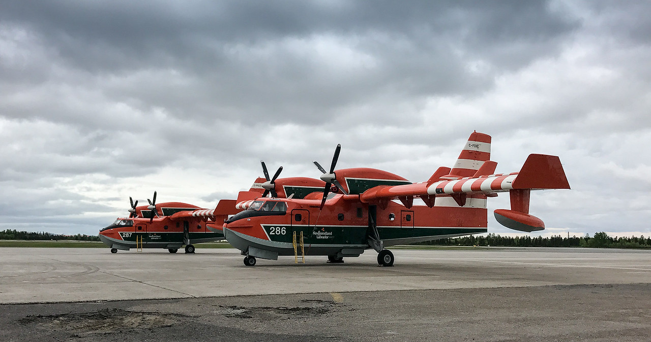 Sea planes for arctic rescue at Goose Bay