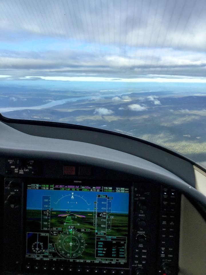 Descending into Goose Bay, CAN
