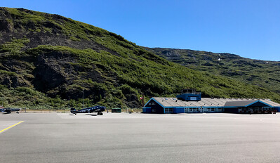 Narsarsuaq, Greenland, airport terminal.