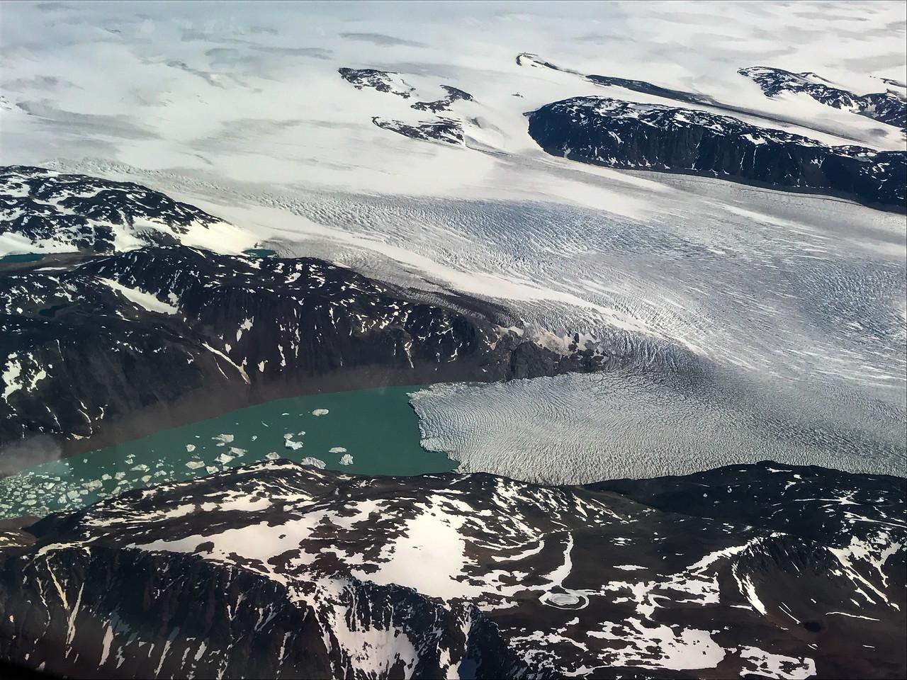 Glacier meets the water