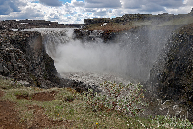 Dettifoss ~ a waterfall in Vatnajökull National Park in Northeast Iceland. It is one of the most powerful waterfall in Europe.