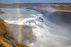The Gullfoss waterfall located in the canyon of the Hvítá river in southwest Iceland.