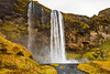 The Seljalandsfoss waterfalls in southern Iceland.