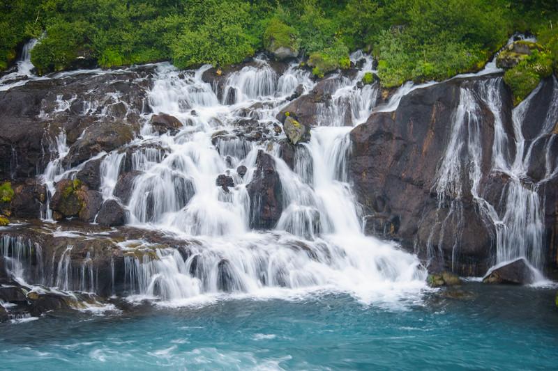 hraunfossar waterfall