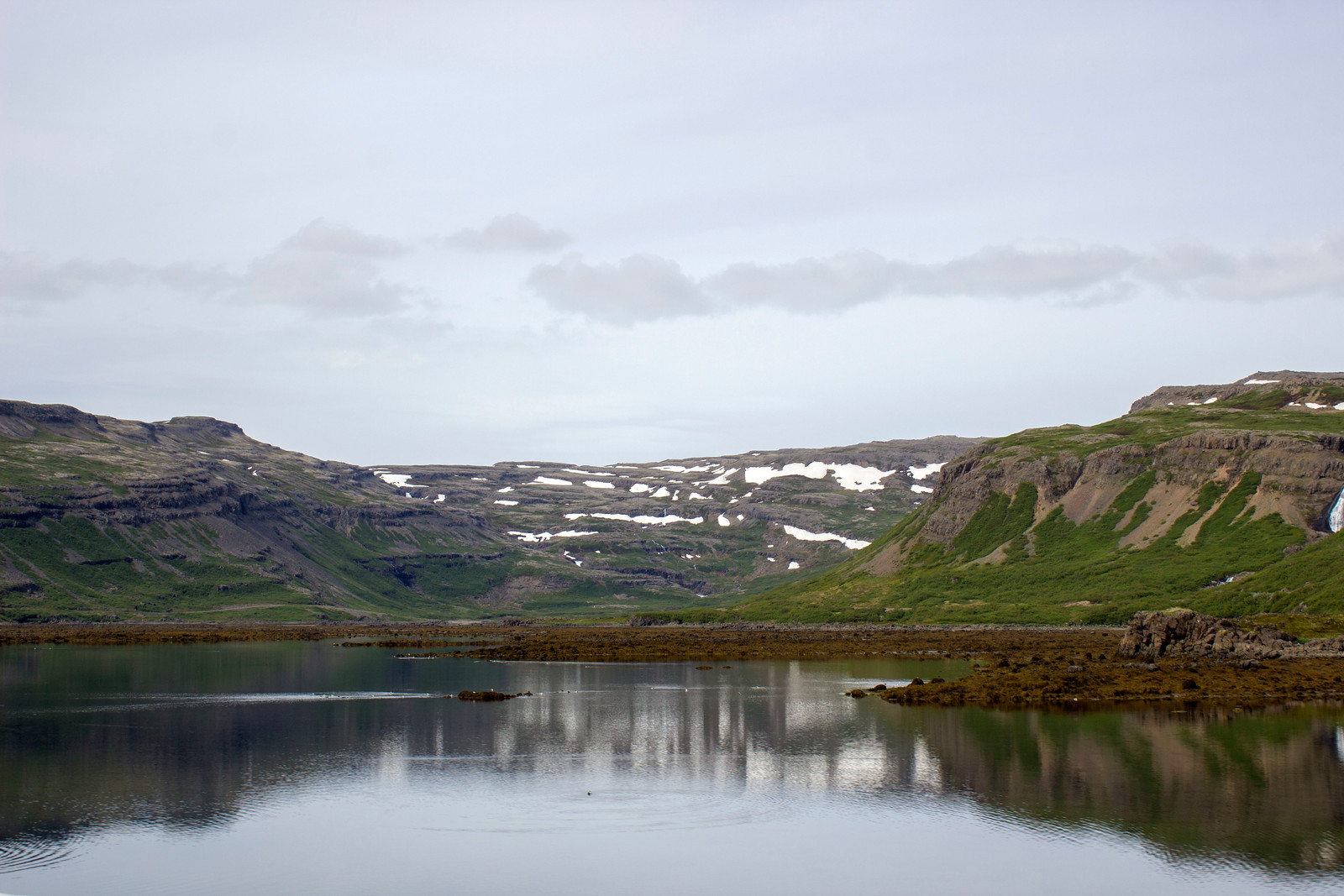 Driving through the Westfjords, Iceland, on our way to Latrabjarg.