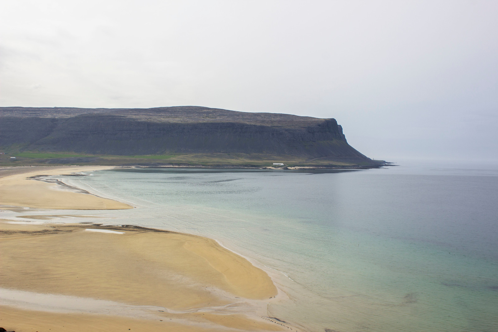 Spectacular beach in Westfjords on the way to Latrabjarg. Iceland.