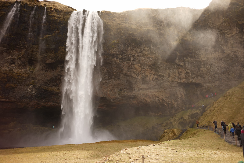 The weather cooperated the next day and we drove to the south coast. Visited this waterfall, Seljalandsfoss