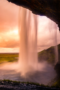Behind a Curtain of Water, Seljalandsfoss, Iceland