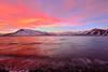Water receeding on sunrise in Icleand