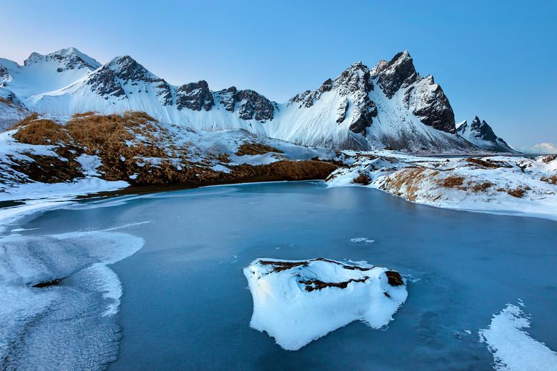Vestrahorn Frozen Pond