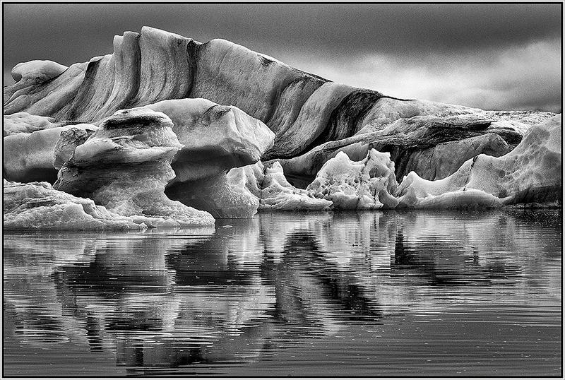 Ice Lagoon Reflection