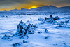 Sunrise Over a Snow Covered Lava Field Near Hellissandur - Iceland - Joe Maciejko - February  2015