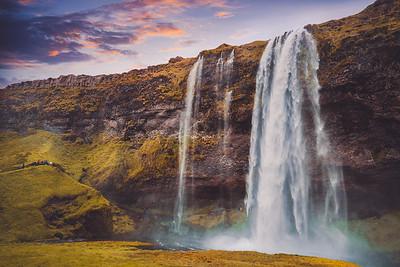 The colors of Seljalandsfoss