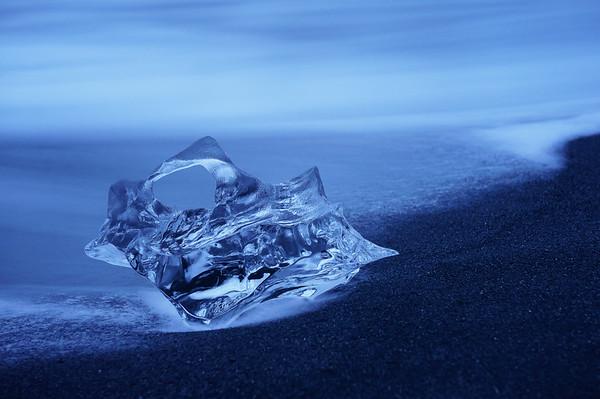 Iceberg on Black Sand Beach
