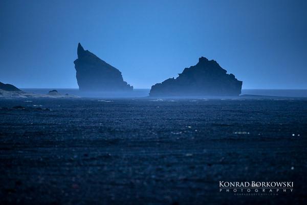 """Hjörleifshöfði - """"Tuff island"""" on the southwest of Mýrdalssandur."""