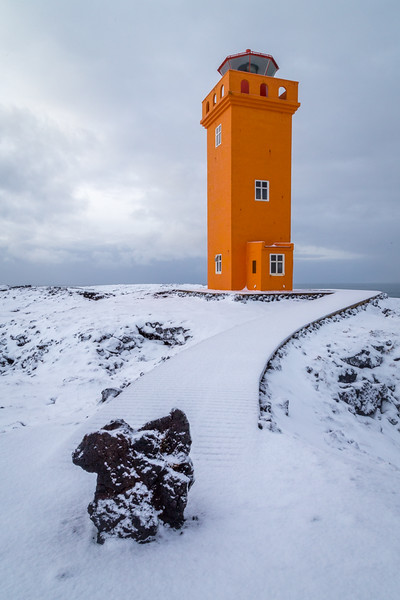 Svörtuloft Lighthouse near Hellissandur - Iceland - Joe Maciejko - February 2015