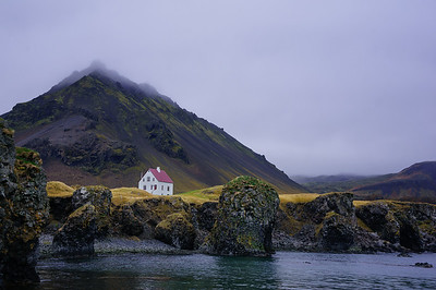 White House in Arnarstapi Harbor, Iceland