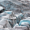 glacier ice field up close