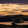 Sunset on lake Mývatn Pseudo Craters