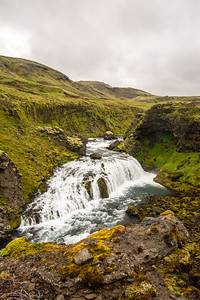 View from the hike upstream of Skogafoss waterfall