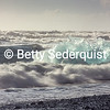 Time Exposure of Crashing Surf with Iceberg
