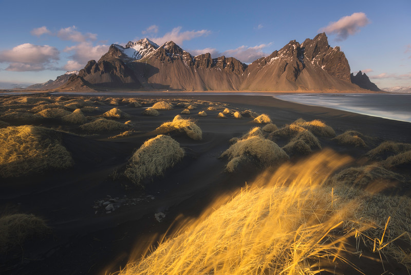 Vestrahorn By The Midnight Sun