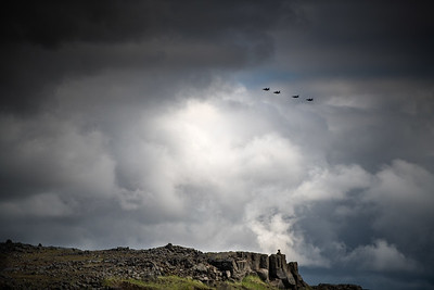 F-16 fighters over Iceland