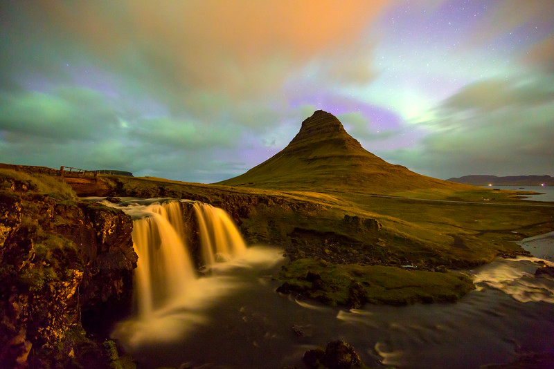 Snaefellness Falls and Kirkjufell Mountain
