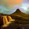 Snaefellness Falls and Kirkjufell Mountain