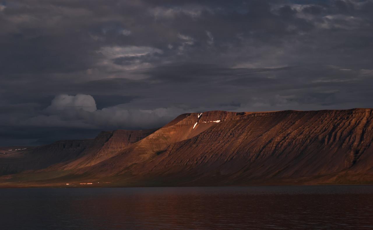 Sunset at Arnarfjörður