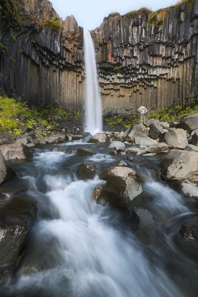 Svartifoss waterfall backstage - Iceland - 14/03/2014