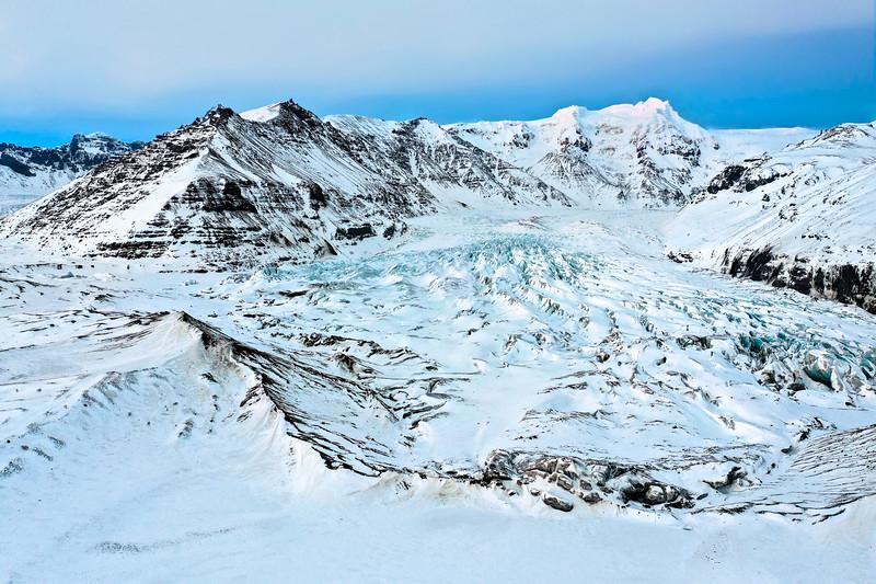 Svínafellsjökull Glacier Aerial