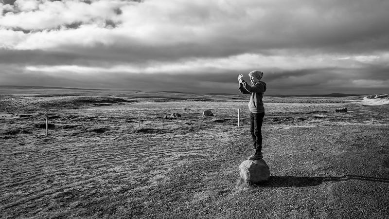 Boy on stone