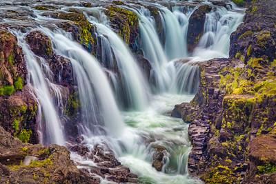 Kolugljufur Canyon Falls