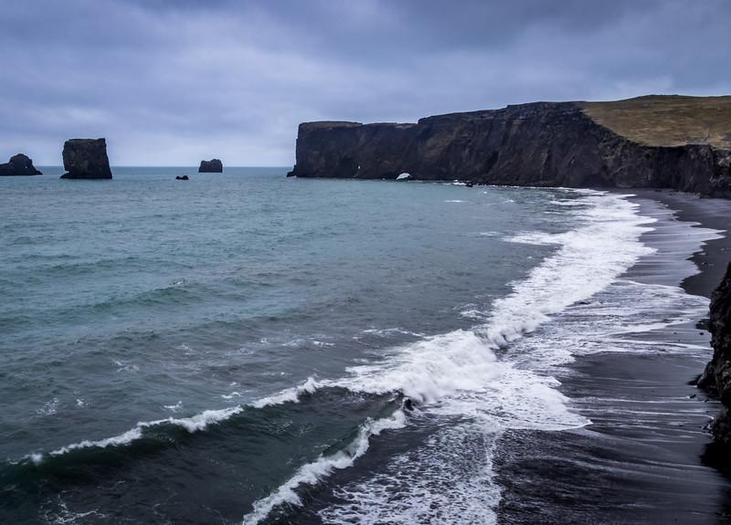 Blue Water & Black Sand - Kirkjufjara Beach, Iceland