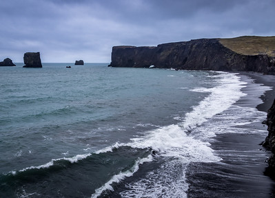 Blue Water & Black Sand - Kirkjufjara Beach, Iceland