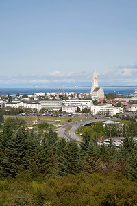 Hallgrímskirkja, as seen from Perlan