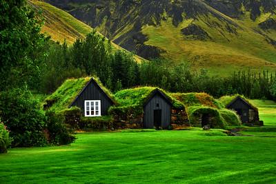 Icelandic Turf Houses, Skogar, Iceland